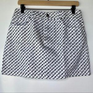 Dolce & Gabbana white and blue denim skirt